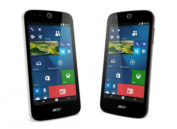 Esses são os novos Acer Liquid M320 e M330. Só erraram na montagem da imagem, já que a barra de status não é a do Windows 10 Mobile, mas sim, do Android.