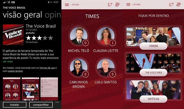 The voice Brasil app 3 temporada
