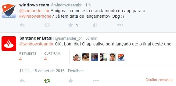 santander-windows-phone-app tweet
