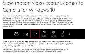 camera lenta lumia 930 windows 10 mobile