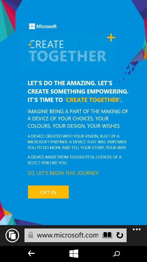 email criar juntos campanha smartphone dos sonhos