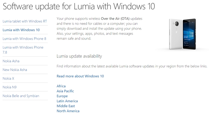 status update windows 10 mobile