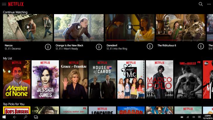 Netflix universal app Windows 10 img1