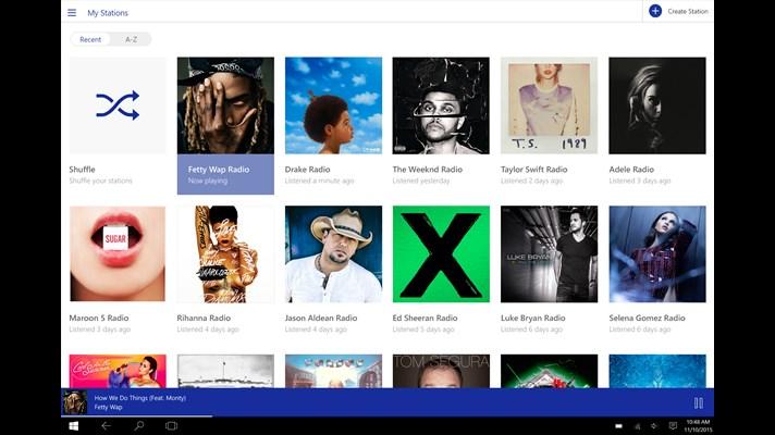 Pandora app Windows 10 desktop