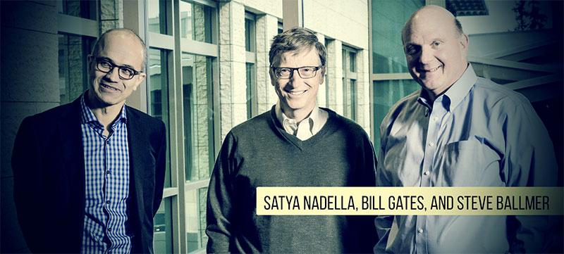 Satya-Nadella-Bill-Gates-and-Steve-Ballmer