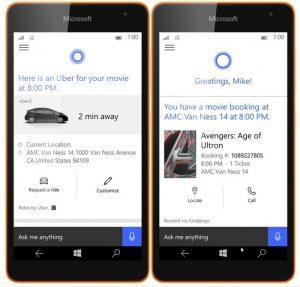 APP do Uber para o Windows Phone