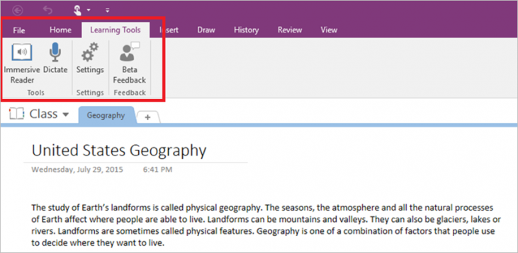 learning tool for onenote microsoft img1