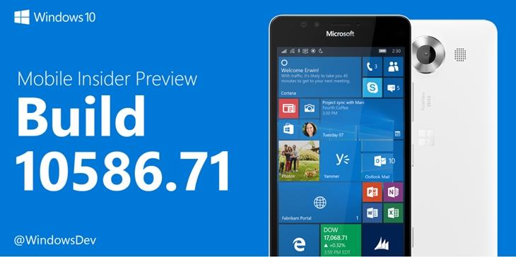 build 10586_71 windows 10 mobile preview