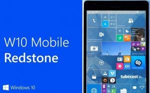 windows 10 mobile redstone update