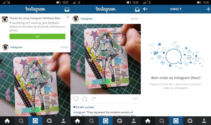 instagram beta novo windows 10 mobile img1