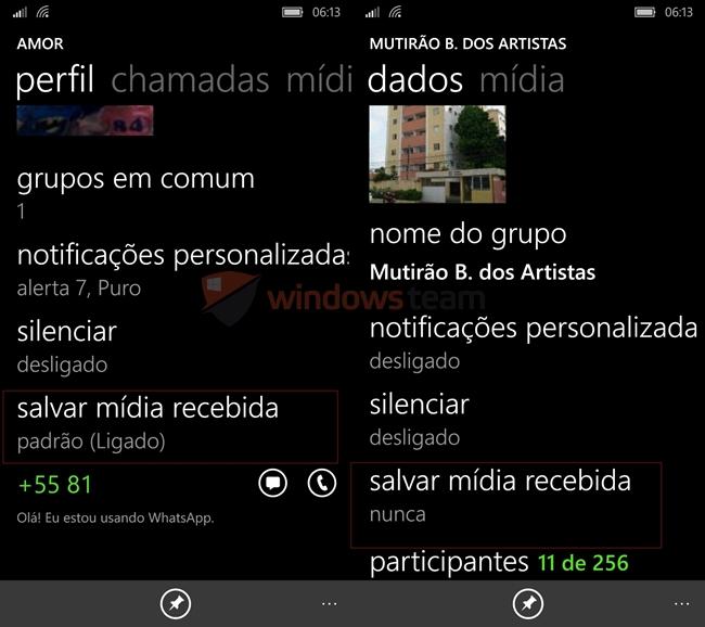 whatsapp beta salvar midia