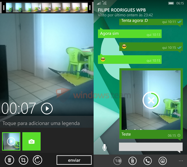 whatsapp beta windows phone video editor