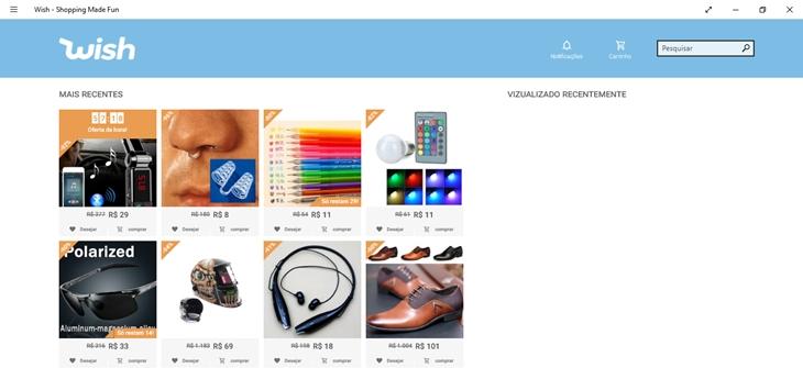 wish shopping windows app img1