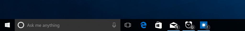 badges barra de tarefas windows 10 insider preview