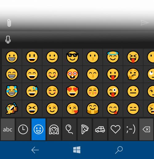 build 14322 windows 10 mobile insider emojis
