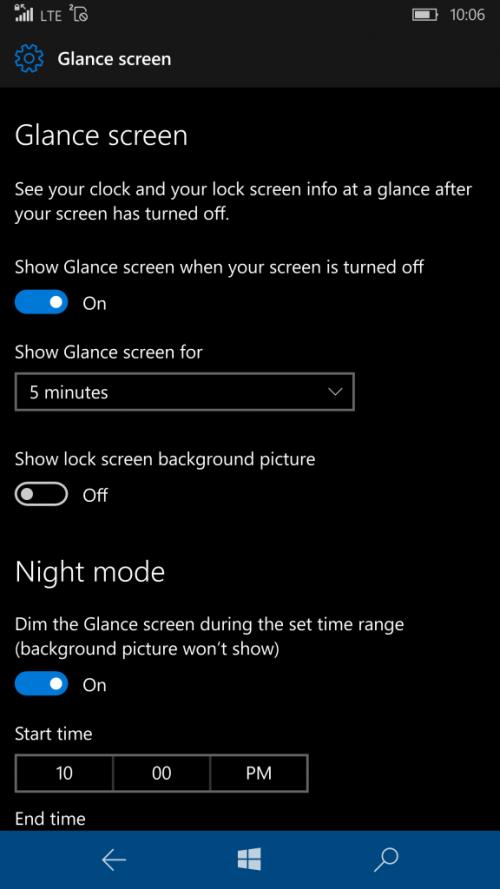 build 14322 windows 10 mobile insider glance
