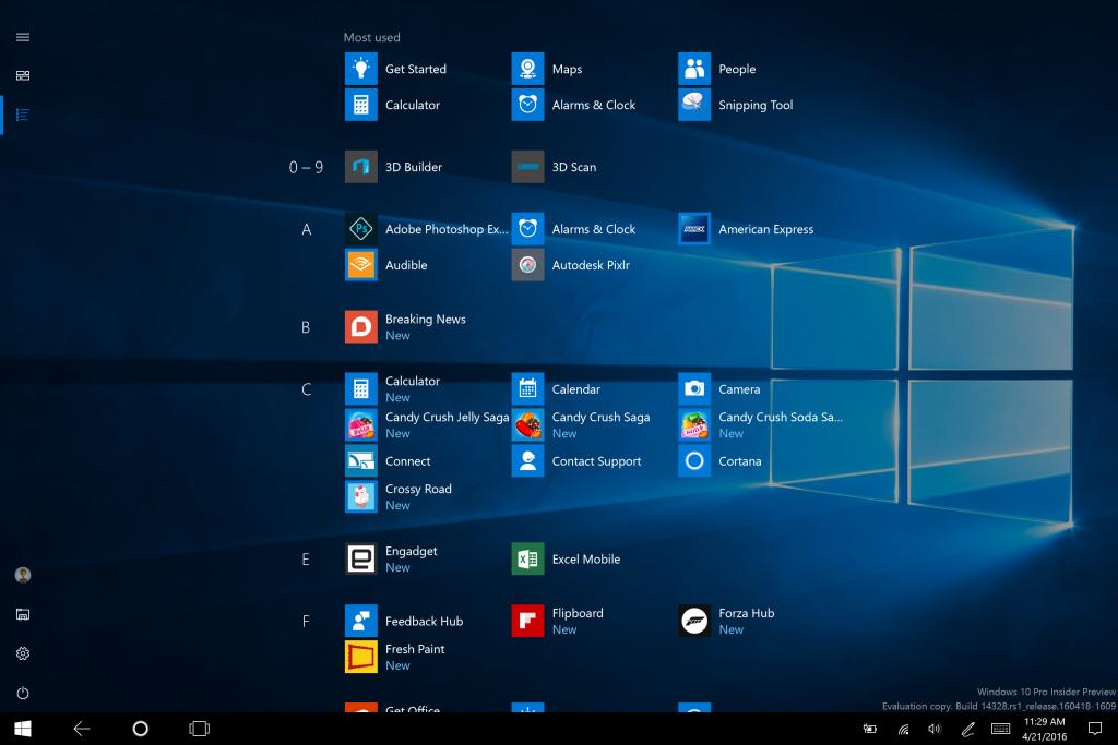 modo tablet windows 10 preview