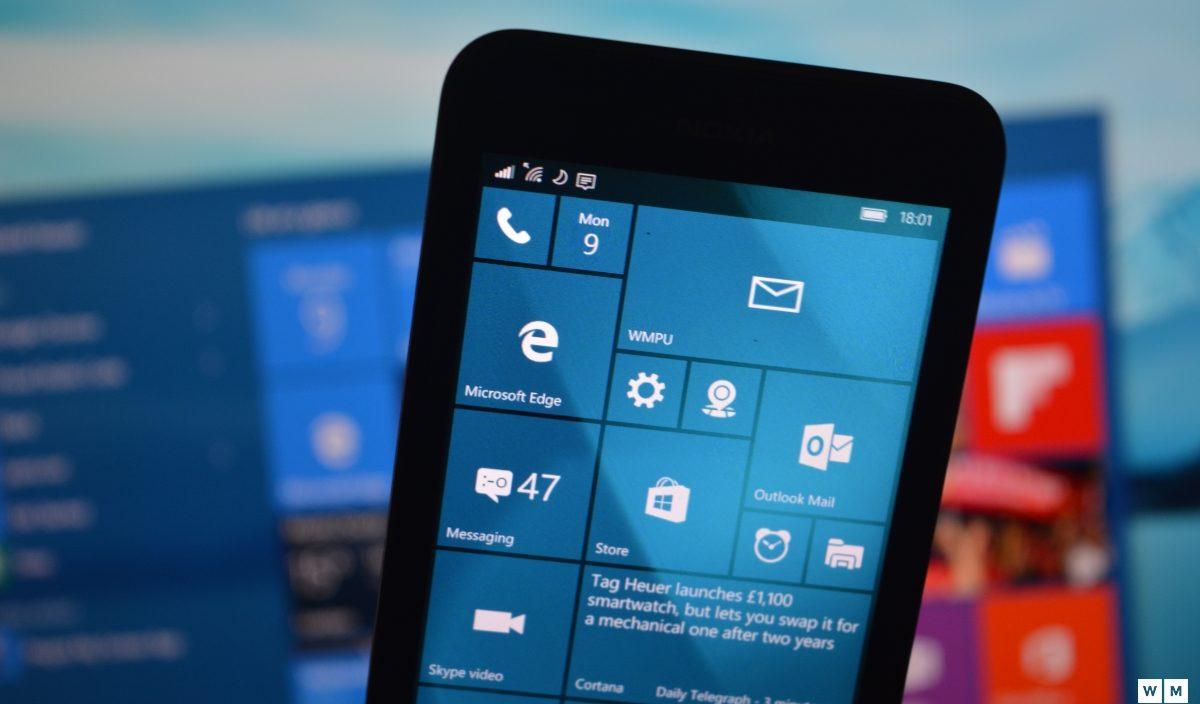 Aqui estão todas as correções da build 10.586.218 do Windows 10 Mobile