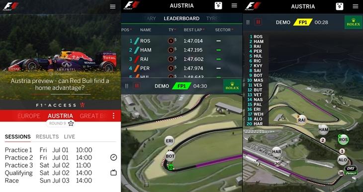 formula 1 app oficial windows 10 mobile