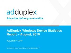 adduplex agosto 2016 capa