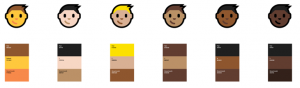emojis windows 10 novo escala de cor