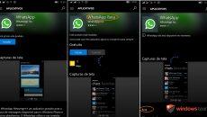 Ué, existem três aplicativos de WhatsApp para Windows Mobile/Phone ?