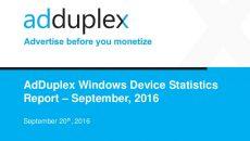 AdDuplex Setembro: pelo visto tem gente voltando para o Windows Phone 8.1