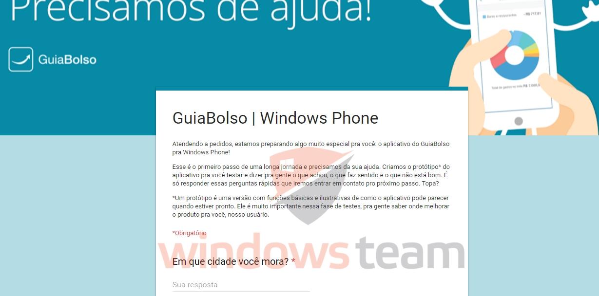guiabolso windows phone