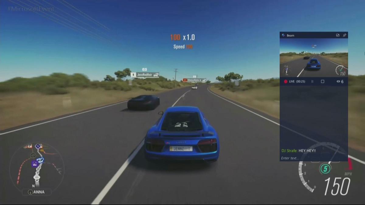 Streaming através do Beam integrado no Windows 10 e Xbox
