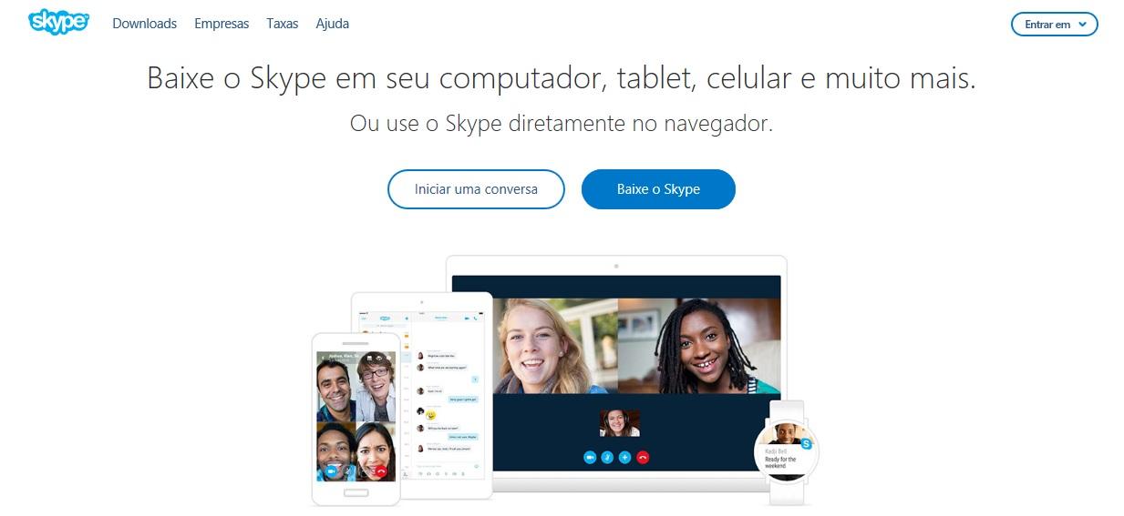 skype web entrar