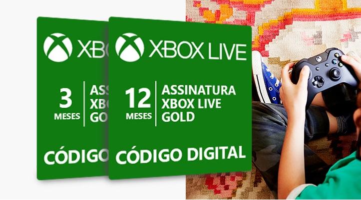 Xbox Live Gold de 3 e 12 meses com até 25% de desconto por tempo