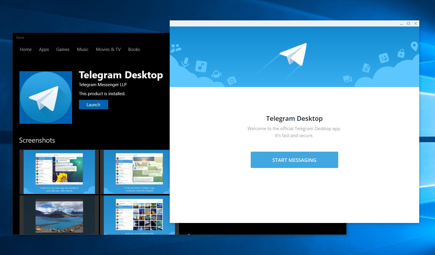 Telegram para Windows 10 atualizado com novidades