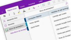 OneNote é atualizado com várias mudanças na interface