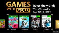 Jogos do programa Games With Gold para agosto de 2017