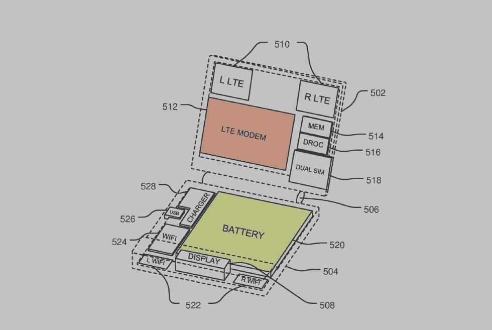 Nova patente do Surface Phone revela um dispositivo flip com LTE