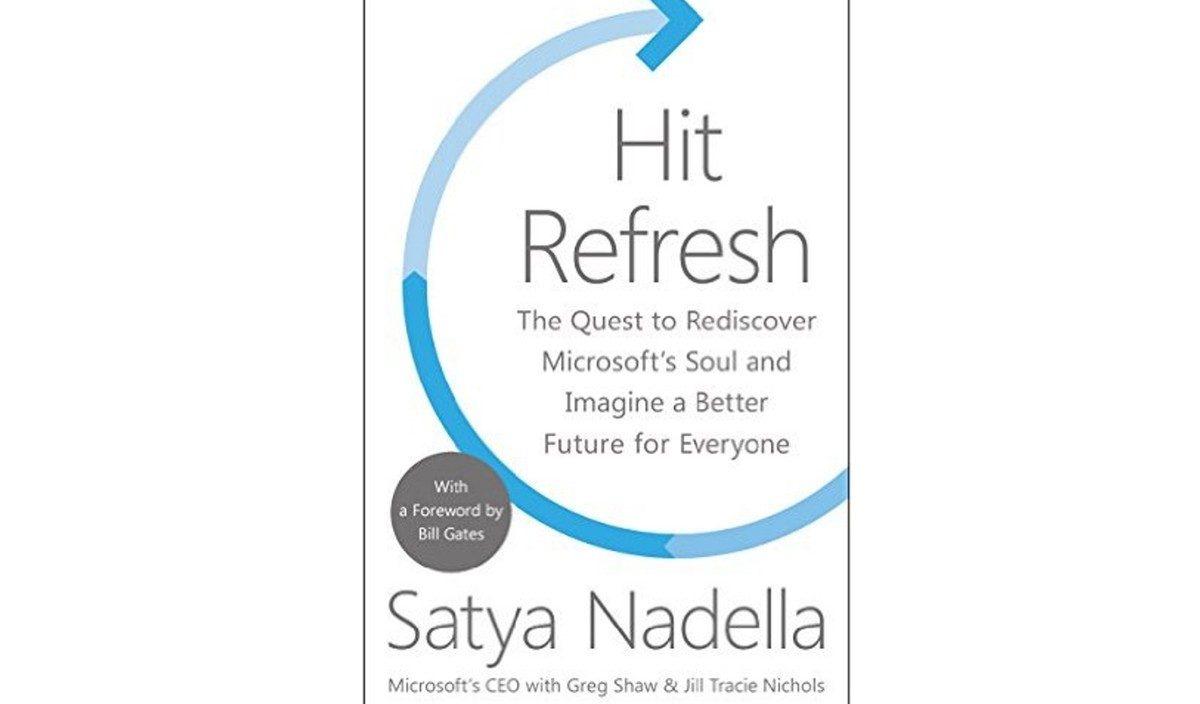 Satya Nadella e seu livro… uma boa leitura