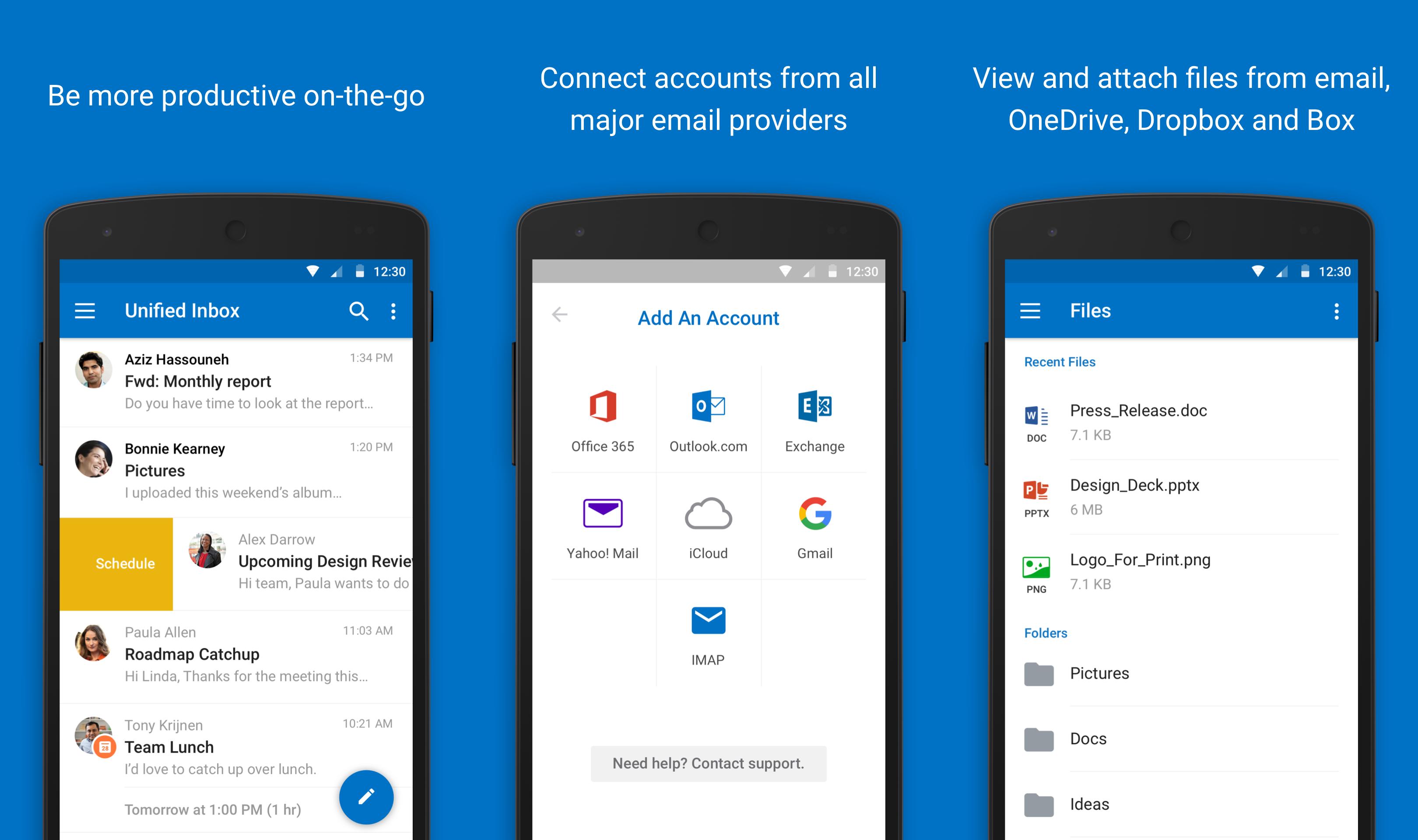 App do Outlook para Android atualizado com novidade voltada para