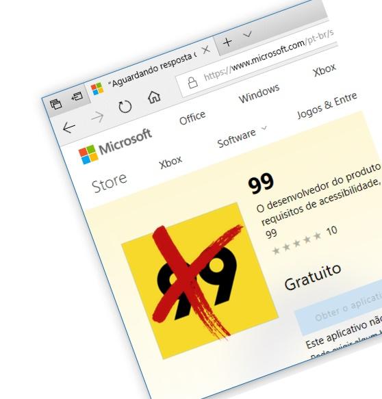 App de táxi 99 está deixando a Microsoft Store a partir de amanhã…