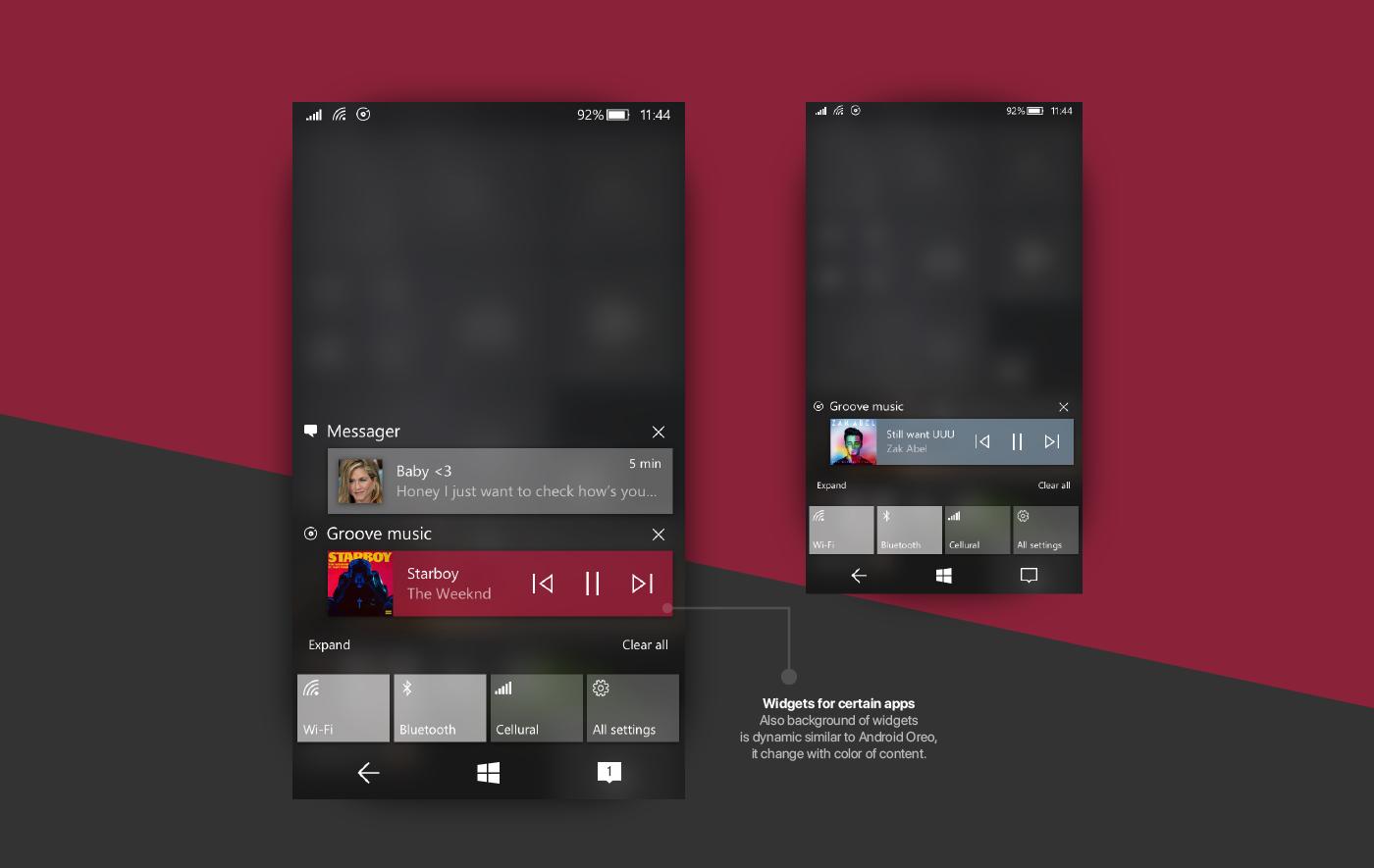 Conceito 2018 do windows 10 mobile traz o fluent design e for Window design 2018
