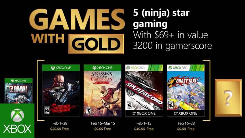 Games With Gold de fevereiro tem Assassin's Creed Chronicles: India na lista