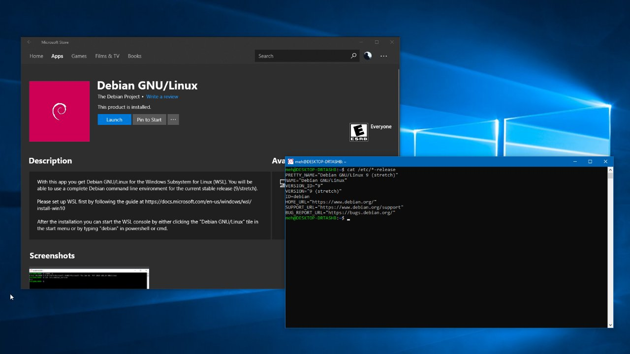 Debian Gnu Linux Esta Disponivel No Windows 10 Geek Blog
