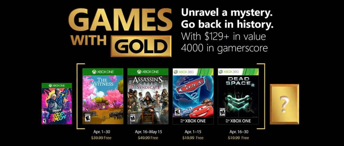 Games With Gold de abril 2018 tem Assassin's Creed Syndicate, Carros 2 e Dead Space 2
