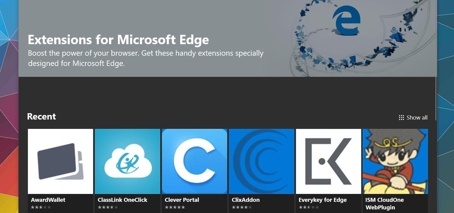 Microsoft Edge ganha uma aba dedicada para extensões na Microsoft Store