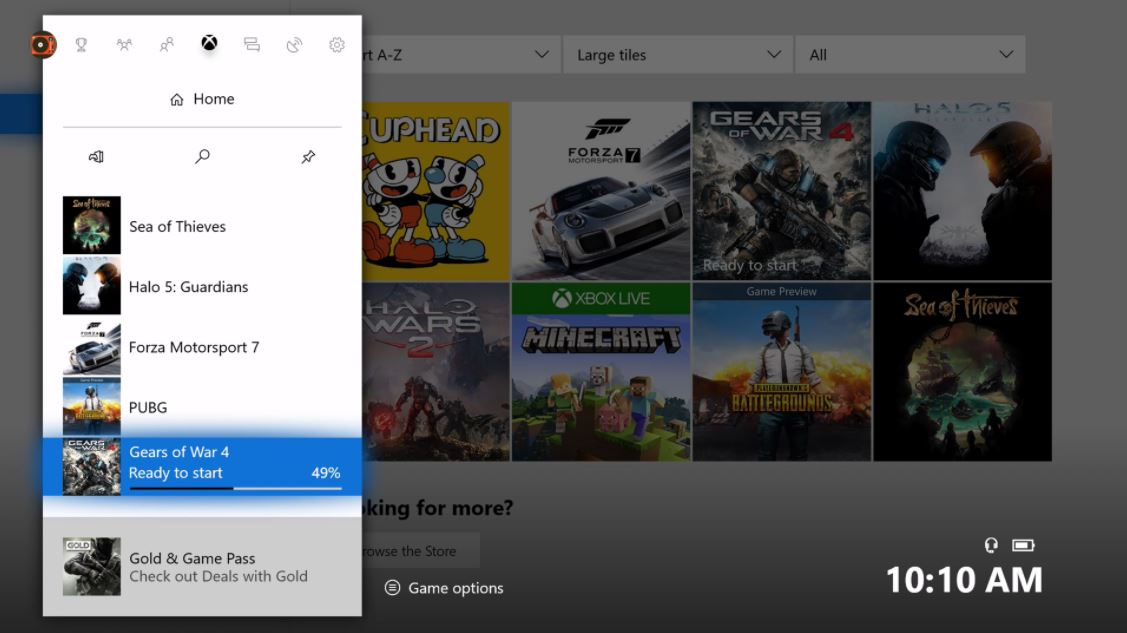 Agora você pode monitorar o download de seus jogos direto do Menu Guia do Xbox One