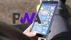 Os PWA não devem funcionar 100% no Windows 10 Mobile (ARM32)