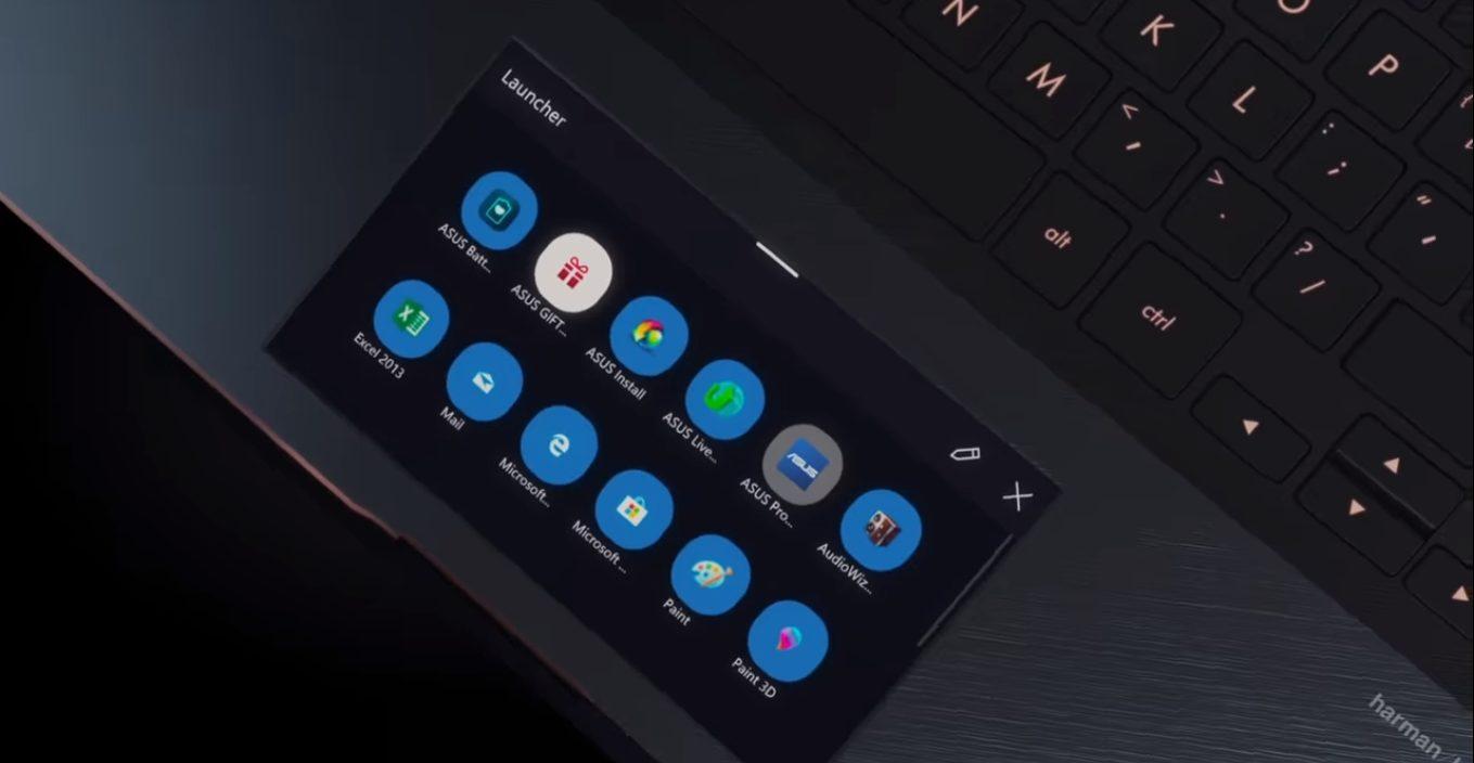 ScreenPad é o touchpad inteligente da Asus com uma tela de 5,5 polegadas
