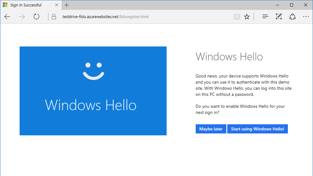 Microsoft apresenta a Autenticação da Web no Microsoft Edge