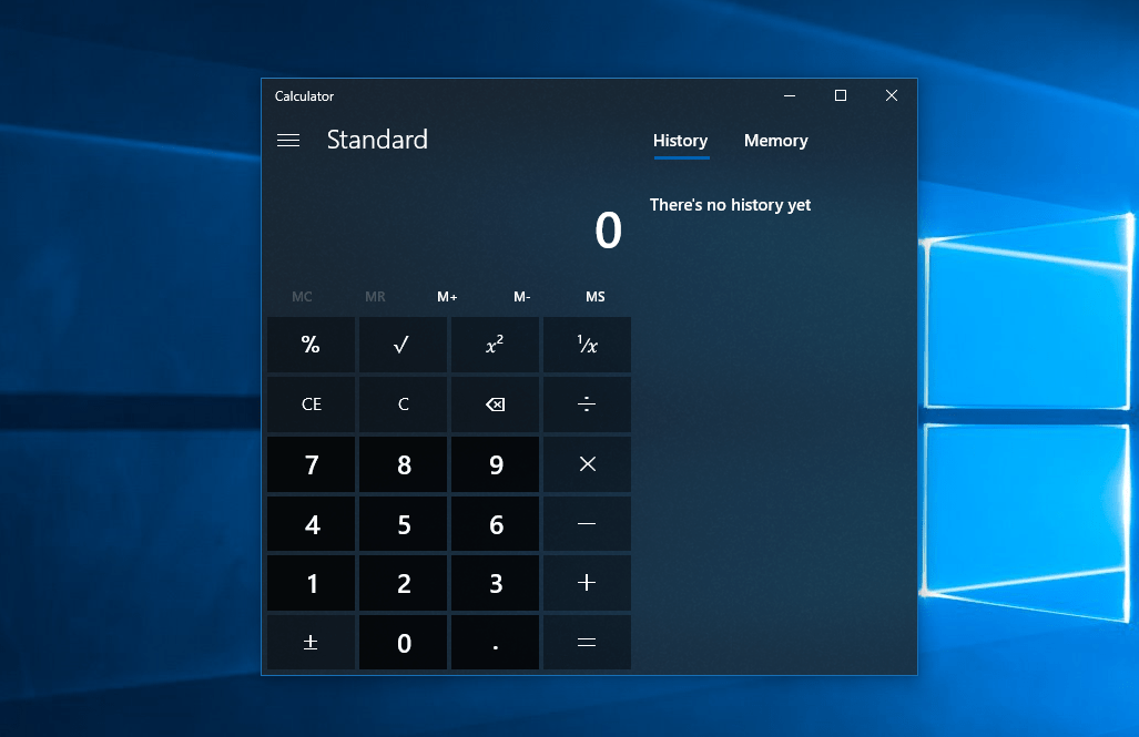 Já viu como ficou a Calculadora nativo do Windows 10 depois de atualizada?