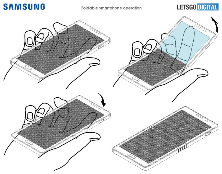 Huawei e Samsung registram patentes de dispositivos com telas dobráveis