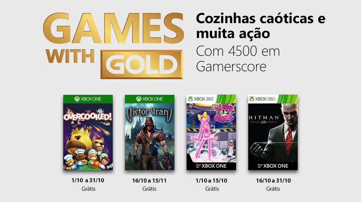 Confira os jogos do Games With Gold de outubro de 2018